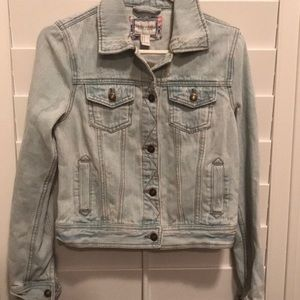 Forever 21 light denim jean jacket women's small